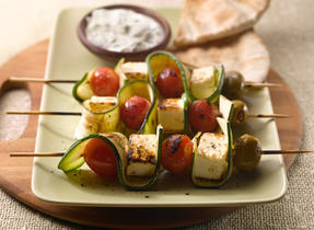 Grilled Canadian Feta Skewers