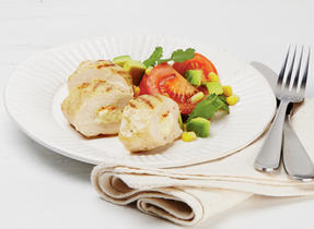 Grilled chicken breast with Mexican-style stuffing