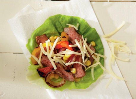 Grilled steak and Monterey Jack roll-ups Recipe