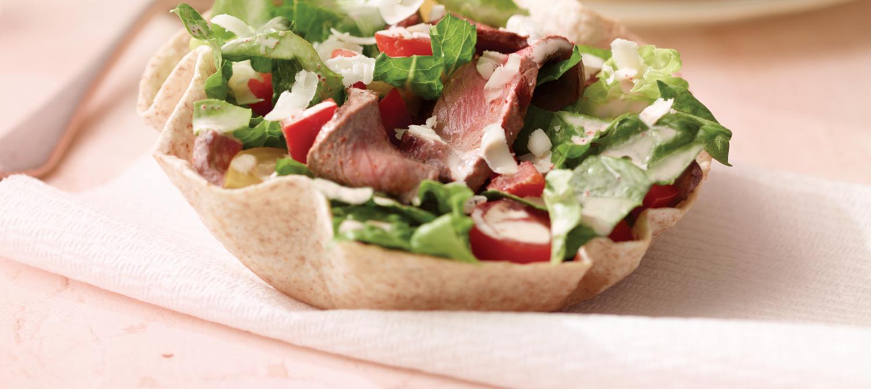 Grilled Steak Taco Salad recipe | Dairy Goodness