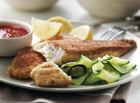 Grilled Tilapia Fillets with a Cheesy Crust