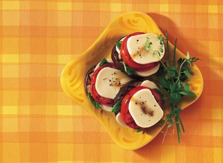 Grilled Tomato, Eggplant & Mozzarella Stack-ups Recipe