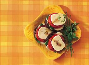 Grilled Tomato, Eggplant & Mozzarella Stack-ups