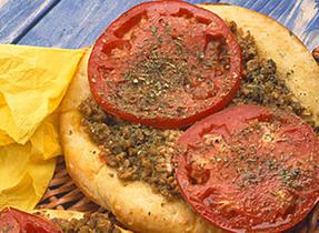 Ground Pork, Tomato and Herb Pizza