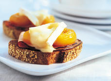 Ham, Apricots and Camembert on Toast
