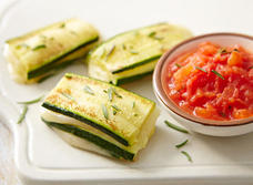 Havarti and zucchini stacks