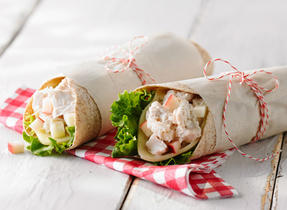 Havarti chicken salad and apple wrap