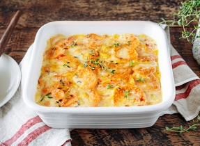 Hearty Sweet Potato Au Gratin