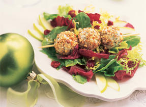 Holiday Salad with Blue Cheese Truffles