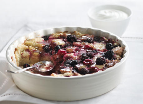 Honey Berry Breakfast Bread Pudding recipe | Dairy Goodness