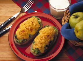Hot Stuffed Cheddar Potatoes
