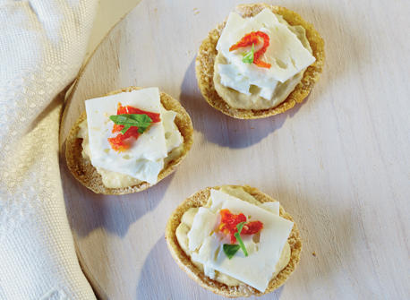 Hummus and Feta on a Cracker Recipe