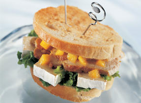 Indian-Inspired Grilled Turkey and Camembert Sandwich