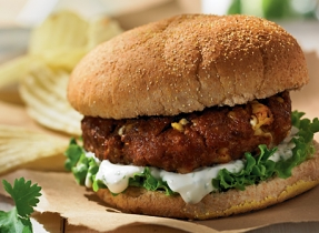 Indian-style burger
