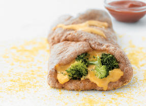 Individual Broccoli and Cheese Stromboli