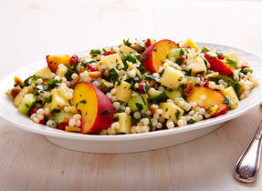 Israeli couscous and Emmental salad