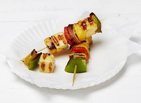 Jamaican Halloumi cheese brochettes