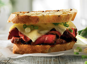 Japanese-style steak sandwich