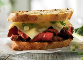 Japanese-style steak sandwich