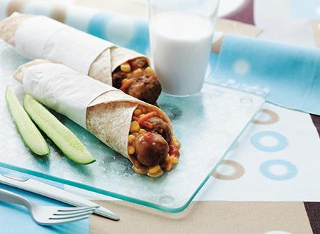 Kids' Crazy Meatball Wraps Recipe