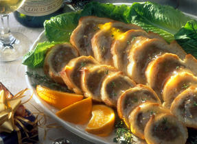 Lamb Crusty Rolls with Sweet Ginger Sauce