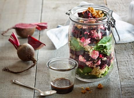 Layered Top to Bottom Beet Salad Recipe