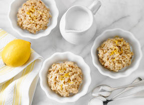 Lemon Date Rice Pudding