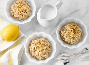 Lemon Date Rice Pudding