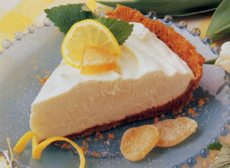 Lemon Ginger Cheesecake Pie recipe | Dairy Goodness