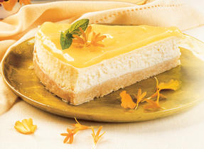 Lemon Mirror Cheesecake