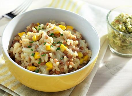 Lentil & Zucchini Risotto  Recipe