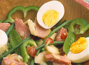 Lunchtime Ham and Vegetable Salad