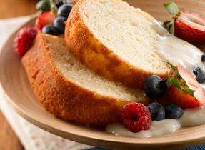 Luscious Lemon Cake with Lemon Cream Sauce