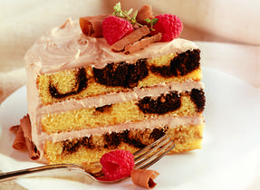 Marble Cake with Brown Sugar Buttercream