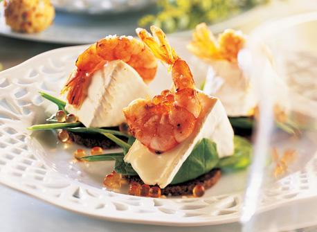 Marinated Shrimp with Triple-Cream Brie Recipe