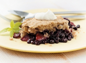 Maritimes Blueberry Apple Cobbler