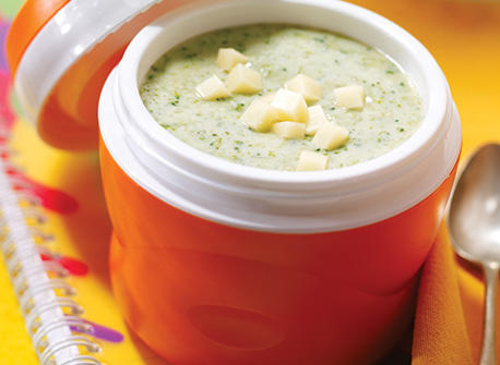Mean green broccoli soup with Cheddar Recipe