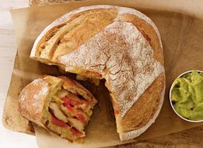 Mexican Crusty Bread with L'Ancêtre Organic Mild Cheddar