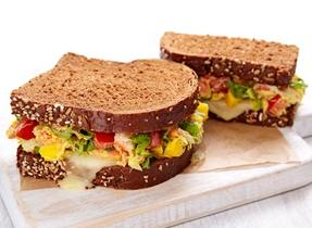 Mozza crab salad sandwiches