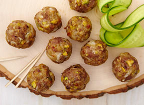 Mozzarella garam masala meatballs