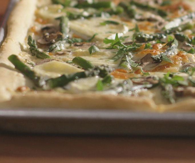 Mushroom and Asparagus Pizza recipe | GetEnough.ca