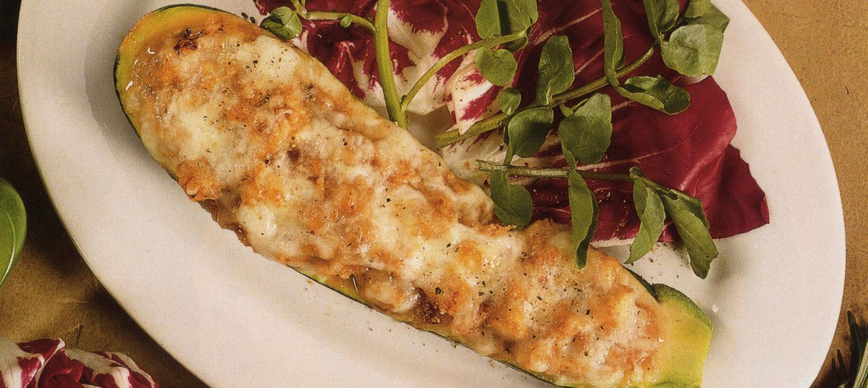 Mushroom Stuffed Zucchini (Cooking Club Size) recipe | Dairy Goodness