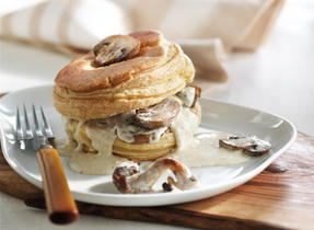 Mushrooms in Puff Pastry with Hazelnut Cream
