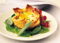 Nests with Ham, Eggs and Swiss Cheese