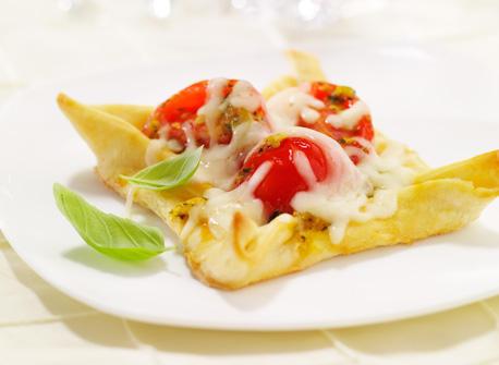 Oka Cheese Ripe Tomato Pesto Tarts Recipe