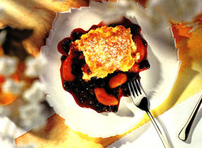 Old Fashioned Peach and Blueberry Cobbler