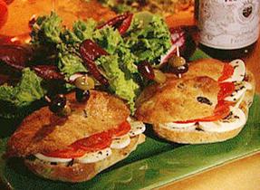 Olive Bread à la Bocconcini