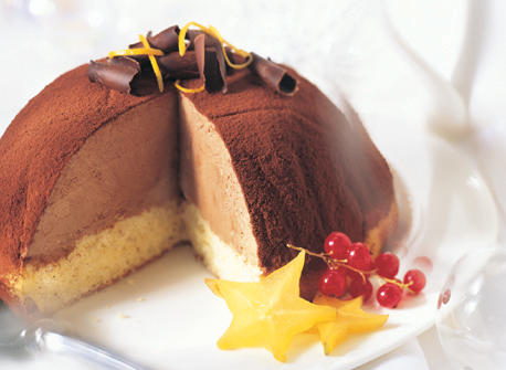 Orange-Flavoured Chocolate Cream Cheese Bombe Recipe