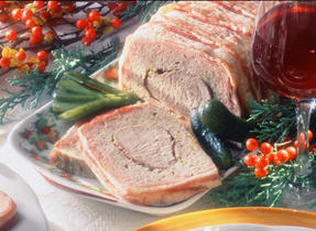 Orange Pork Tenderloin Terrine with Apple Sauce