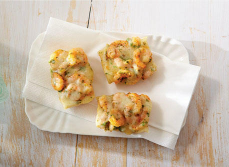 Paprika shrimp and Havarti crostini Recipe